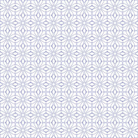 micro: Vector seamless illustration of blue tangier grid, abstract guilloche background