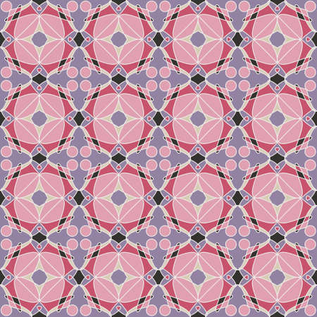 wallflower: Seamless colorful pattern background, vector illustration