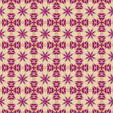 wallflower: Seamless colorful retro pattern background, vector illustration