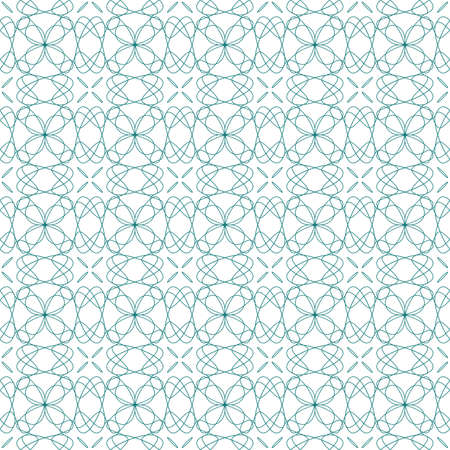 Vector seamless illustration of tangier grid, abstract guilloche ornament Vector