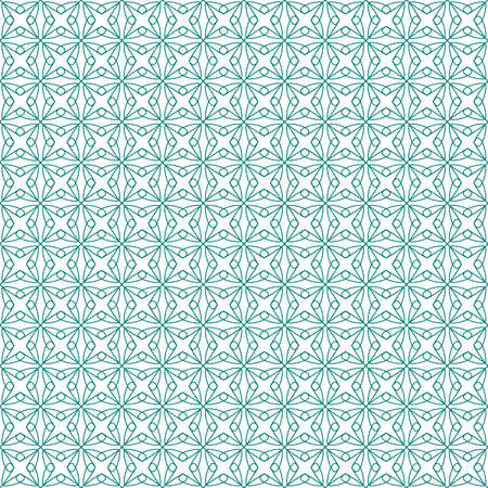 tangier: Vector seamless illustration of green tangier grid, abstract guilloche background