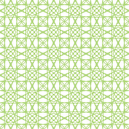 Vector seamless illustration of green tangier grid, abstract guilloche background Stock Vector - 12491557