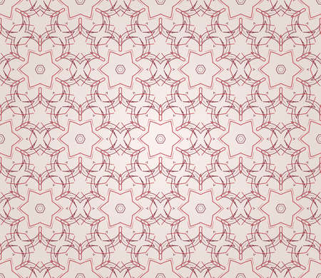 Seamless wallpaper with floral ornament in red and beige colors Stock Vector - 13075423