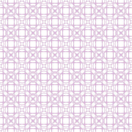 tangier: Vector seamless pink illustration of tangier grid, abstract guilloche background