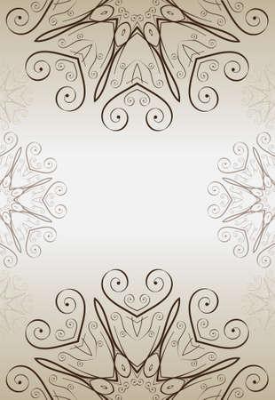 Abstract ornamental gold frame, elegant vintage label, vector illustration Vector