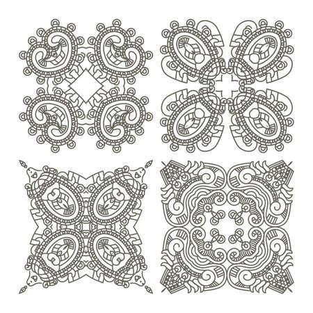 Wallpaper with aztec ornament in gray colors, design element Stock Vector - 13204998
