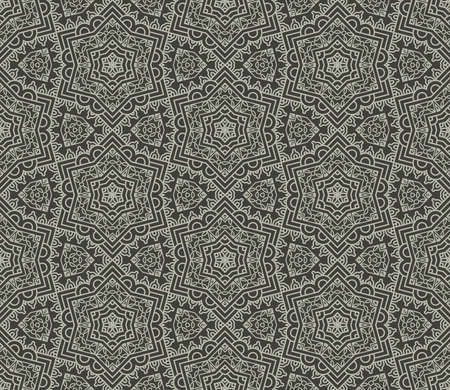 Seamless wallpaper with aztec ornament in gray colors Vector
