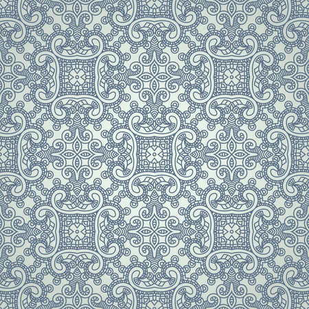 Seamless wallpaper with aztec ornament in blue colors Vector