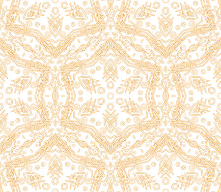 Seamless decorative wallpaper with floral ornament in orange color Stock Vector - 13336440
