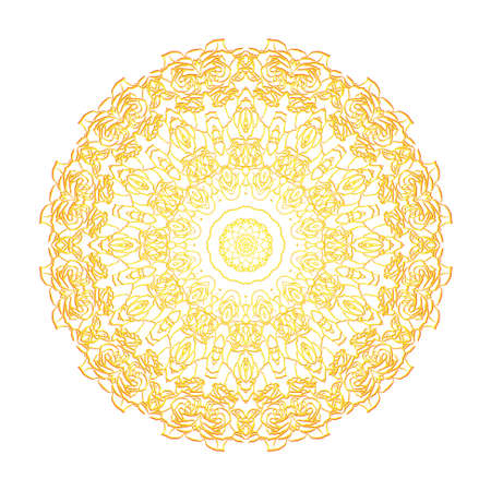 Abstract round ornamental pattern in yellow and red colors Stock Vector - 13394008