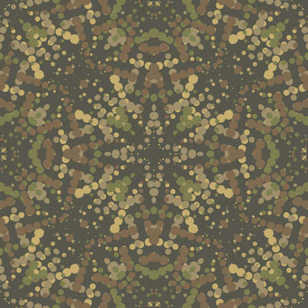 wartime: The green camouflage seamless background with circles