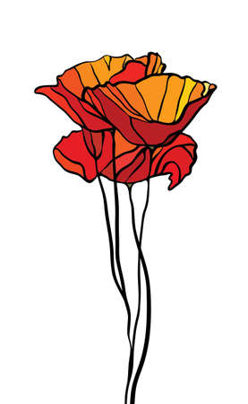 church flower: Multicolore vetrate con motivi floreali