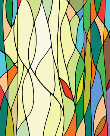 Multicolored stained glass  Stock Vector - 13492428