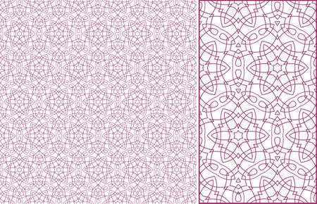 seamless pink illustration of tangier grid, abstract guilloche background Stock Vector - 13492657