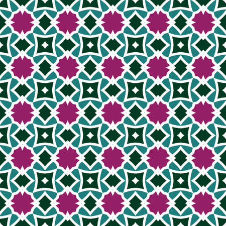 Seamless colorful retro pattern background,illustration Vector