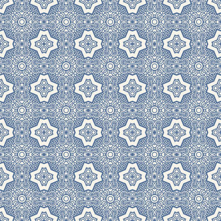 Seamless wallpaper with aztec ornament in blue colors Stock Vector - 13677816