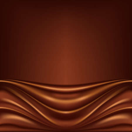 chocolate melt: Abstract background cioccolato, marrone satinato astratta, maglia illustrazione vettoriale