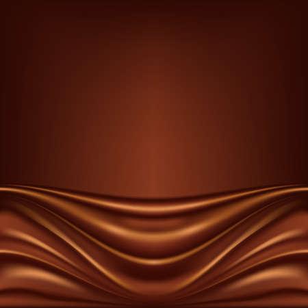 cremoso: Resumen fondo de chocolate, marr�n de raso abstracto, ilustraci�n vectorial de malla