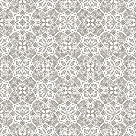 Seamless decorative wallpaper with ethnicity ornament in brown and beige colors Stock Vector - 13912173