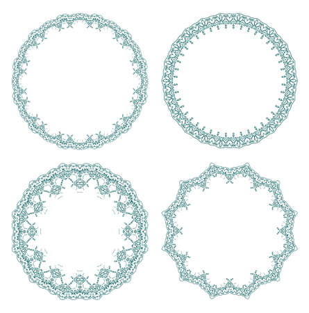 lace border: pattern for currency, certificate or diplomas, decorative frames