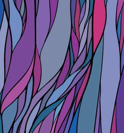 purple glasses: Multicolored stained glass with green color, abstract hand-drawn pattern