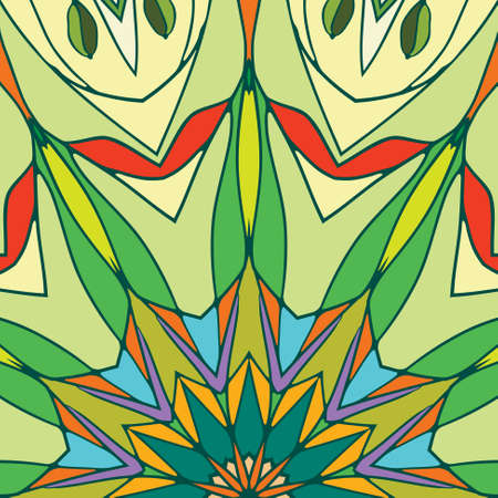 Multicolored stained glass with green and red color Vector