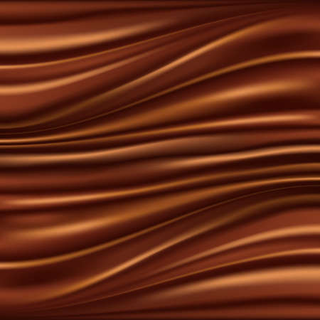 Abstract chocolate background, brown abstract satin, mesh vector illustration Vector