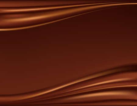 melt chocolate: Resumen fondo de chocolate, marr�n de raso abstracto, ilustraci�n vectorial de malla