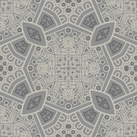 mosaic floor: Abstract square ornamental pattern in grey color