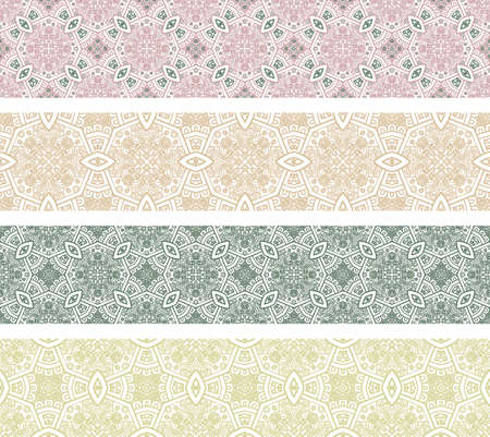 Set of borders with ornament  Interesting solutions for your design Stock Vector - 14456681