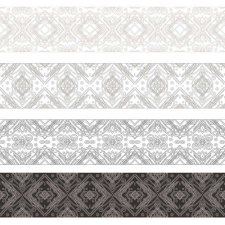 Set of borders with ornament  Interesting solutions for your design Stock Vector - 14556800