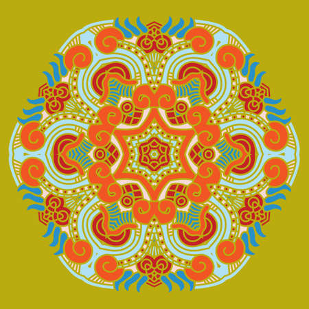 prognostication: Set of colorful ethnicity round ornament, mosaic