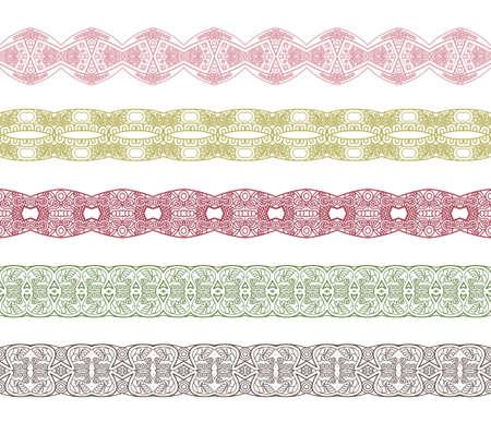 sencillez: Conjunto de fronteras con el ornamento. Soluciones interesantes para el diseño de su