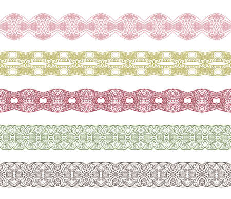 Set of borders with ornament. Interesting solutions for your design Stock Vector - 14795246