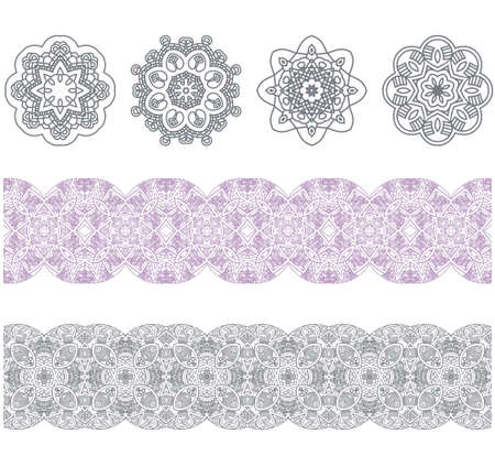 Set of borders with ornament  Interesting solutions for your design Vector