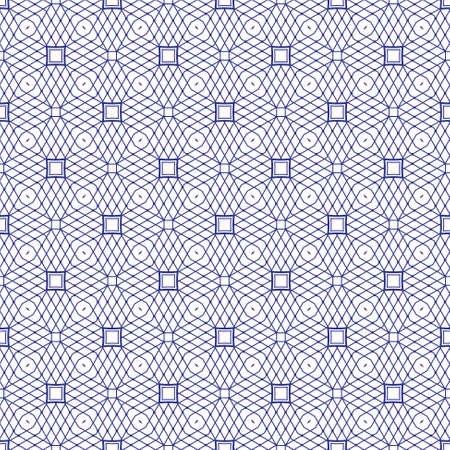 seamless illustration of tangier grid, abstract guilloche background Vector