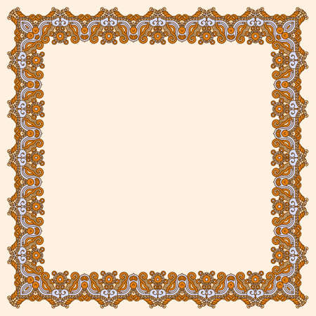 Abstract ornamental gold frame, elegant vintage label, vector illustration Vector