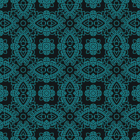 Creative design of a retro background in black and green colors, seamless illustration Vector