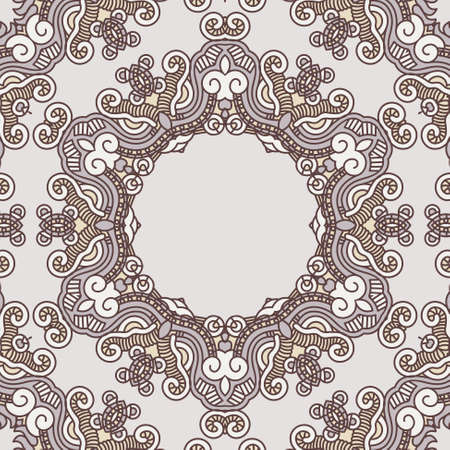 Ornamental colorful round floral ethnicity lace pattern, mosaic stained glass Stock Vector - 15424639