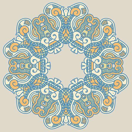 prognostication: Colorful ethnicity round ornament Illustration