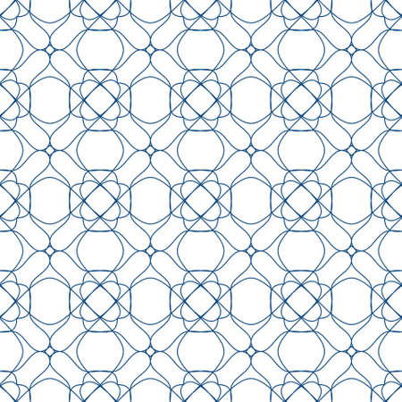 tangier: seamless blue illustration of tangier grid, abstract guilloche background