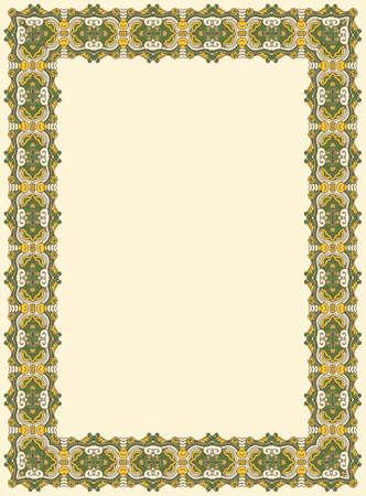 Abstract ornamental frame, elegant vintage label Stock Vector - 15687466