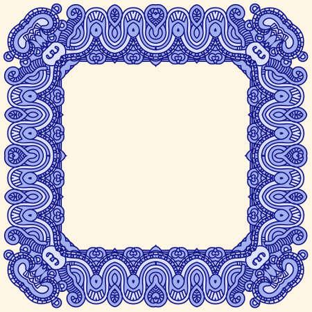 classic style: Abstract ornamental frame, elegant vintage label Illustration