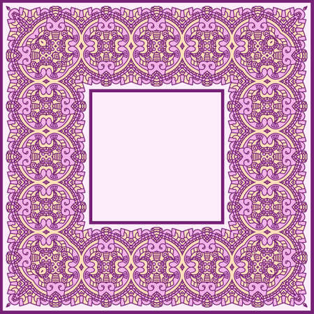 Abstract ornamental frame, elegant vintage label Vector