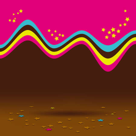 Abstract chocolate background, design creativity pattern of colorful waves Stock Vector - 15833923