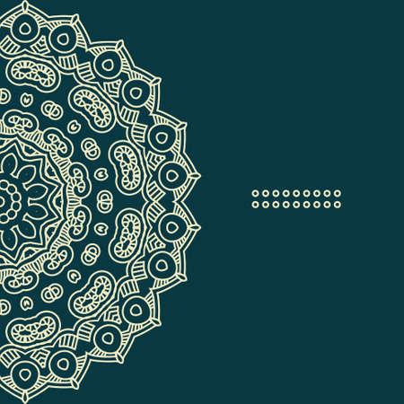 曼陀羅: カラフルな民族ラウンド飾り, 印刷用華やかなパターンを図