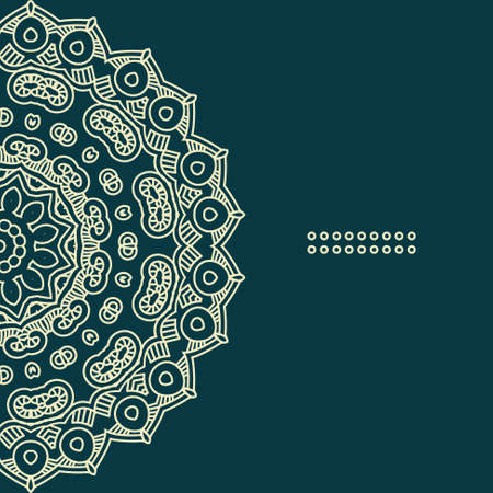 Colorful ethnicity round ornament,  illustration with ornate pattern for print