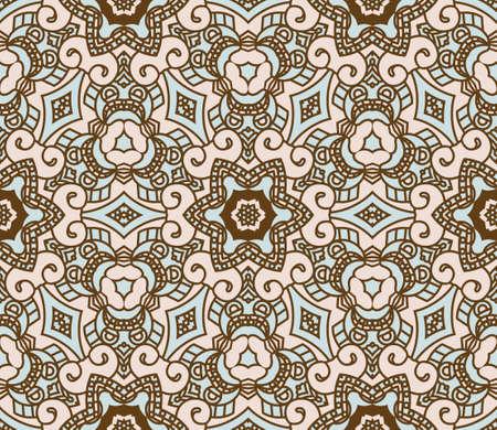 wallflower: Seamless colorful retro pattern background,illustration