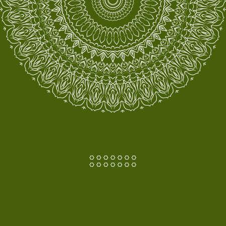 east indian: Redondo colorido �tnico adorno, ilustraci�n vectorial con el patr�n adornado para la impresi�n
