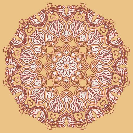 prognostication: Ornamental ethnicity pattern Illustration